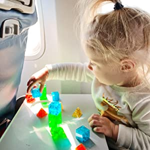 Magna-Qubix magnetic building blocks plane car travel play educational