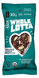 whole lotta, clif bar, cliff bar, fruit, nut, seed, organic, non gmo, vegan, gluten free, dairy free
