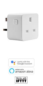 1Pack 3 Plug Woox R4055 UK Smart Power Strip 13A 3 Port 2 USB