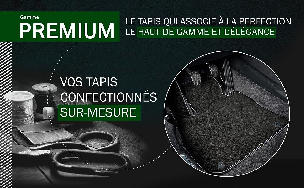 DBS Tapis de Voiture Moquette Classic sur Mesure pour Logan - 3 pi/èces 2004-2012 Tapis de Sol antid/érapant pour Automobile
