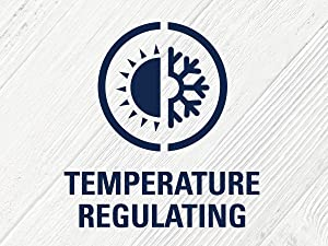 Temperature-regulating technology helps keep you warm when it's cold out, and cool when it's hot.