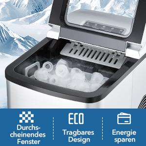 IJsblokjesmachine ijsblokjesmaker voor werkblad stille ijsmaker
