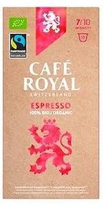 Café Royal Nespresso* kompatible Kapseln - Bio/Organic Espresso