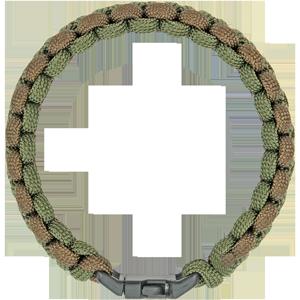 "Southern Homewares 8/"" Outdoor Survival Paracord Bracelet Green /& Brown"