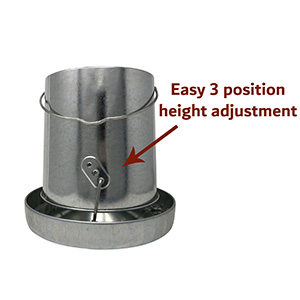 easy 3 position height adjustment