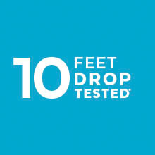10-foot drop-protection with IMPACTIUM cushioning
