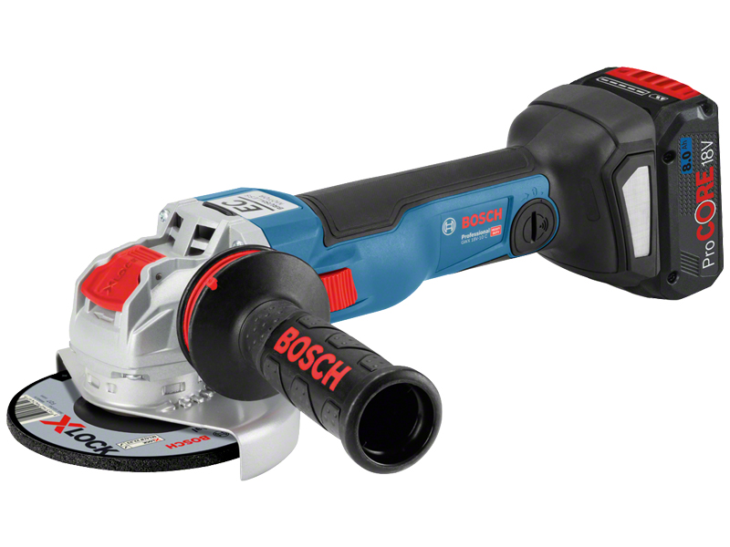 Bosch Batterie-angle meuleuse GWX 18v-10 SC 125 mm Professional 2 batteries 8,0 Ah