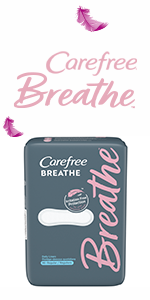 Carefree pads liners pantiliners panty liners Always Stayfree wings no wings