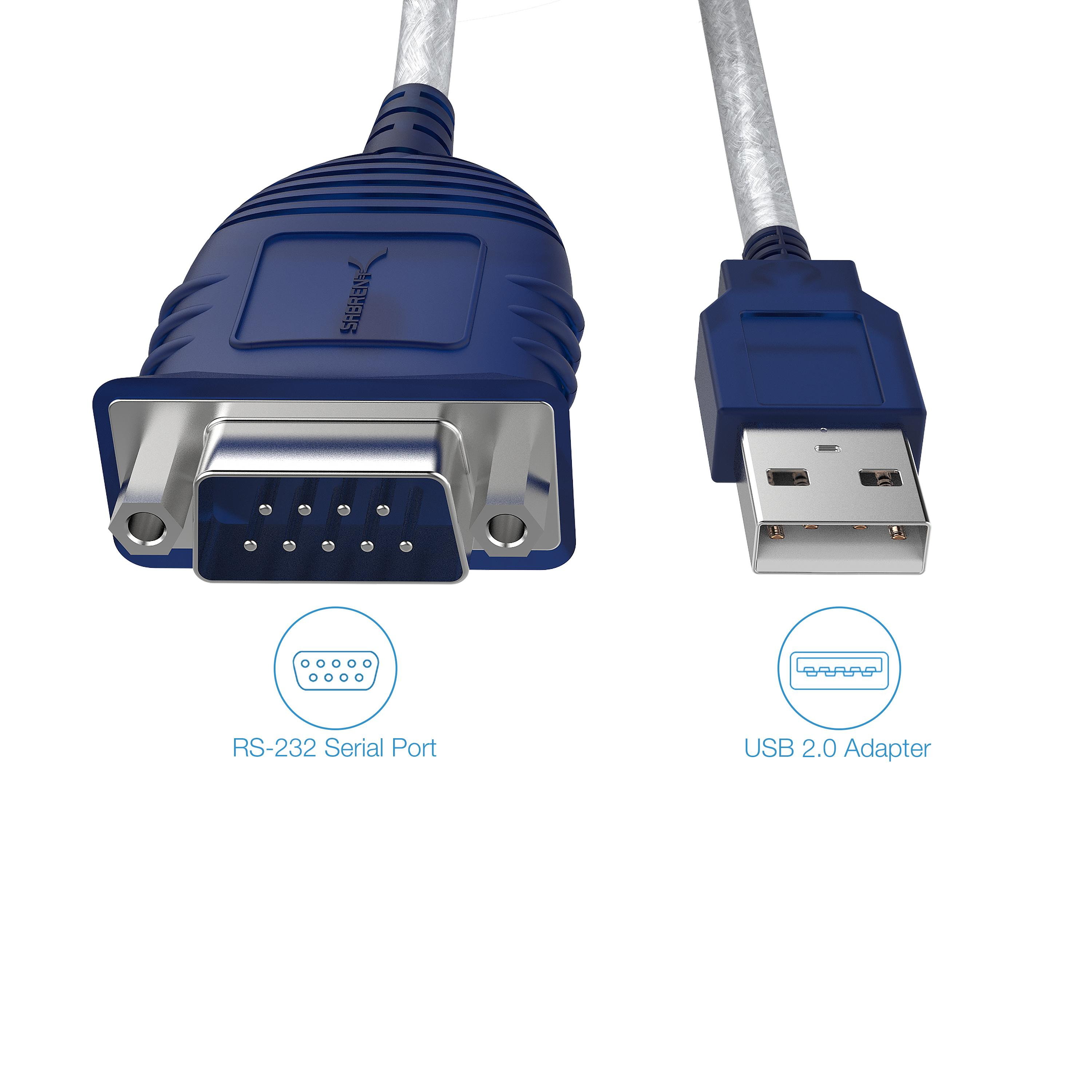Amazon Com Sabrent Usb 2 0 To Serial 9 Pin Db 9 Rs 232