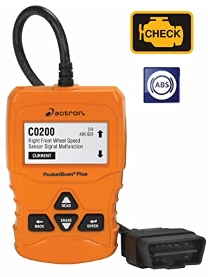 Actron CP9660 PocketScan Plus ABS OBD II CAN Scan Tool Diagnostics Test Testing Check Engine Light