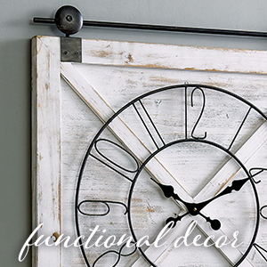 functional decor barn door clock