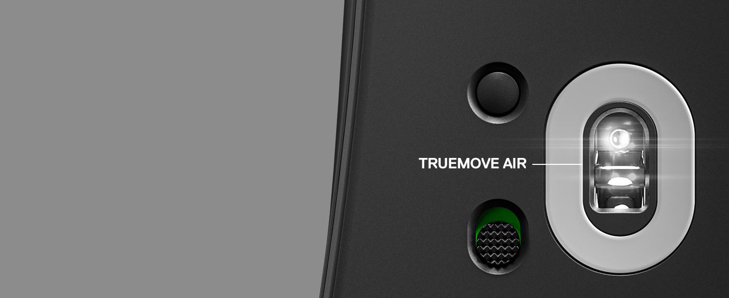 -SteelSeries Prime Wireless mouse TrueMove Air sensor on underside of mouse