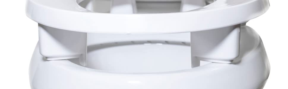 Elongated Elevated Toilet Seat