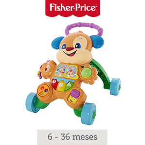 Fisher-Price Andador perrito primeros pasos, correpasillos bebé +6 ...