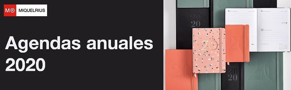 Miquelrius 33116 - Agenda 2020, Día Página (122 x 168 mm), Granada, Castellano