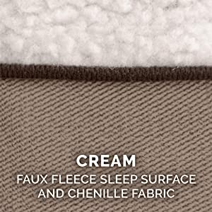 sleep; surface; faux; sherpa; fleece; chenille; cream; beige; white
