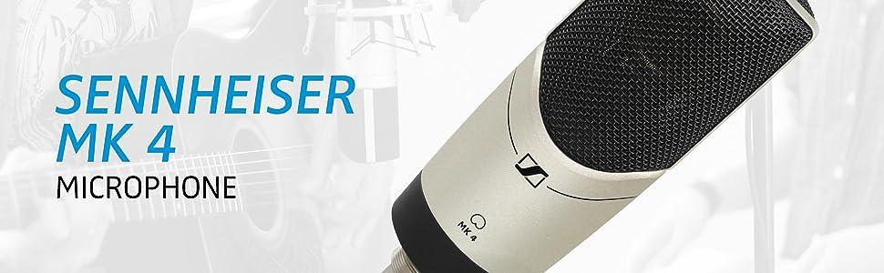 sennheiser mk4 large diaphram condenser microphone musical instruments. Black Bedroom Furniture Sets. Home Design Ideas
