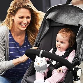 Owl Baby White Noise Machine,Portable On-The-Go Infant Timed Shutdown Baby Sleep Sound Machine Baby Sleep Aid Sound