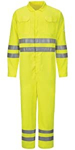 Mens Coverall Shirt Pants Jacket Overall Uniform Jeans Visibility FR Flame Resistant Work Bulwark