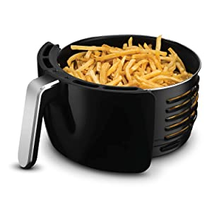 Image of the Air Fryer's basket filled with french fries.