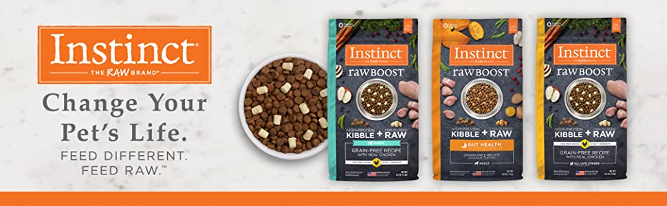 instinct, instinct raw food, instinct dog food, freeze-dried dog food, high protein kibble