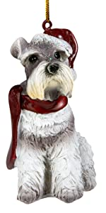 Christmas Ornaments - Xmas Miniature Schnauzer Holiday Dog Ornaments