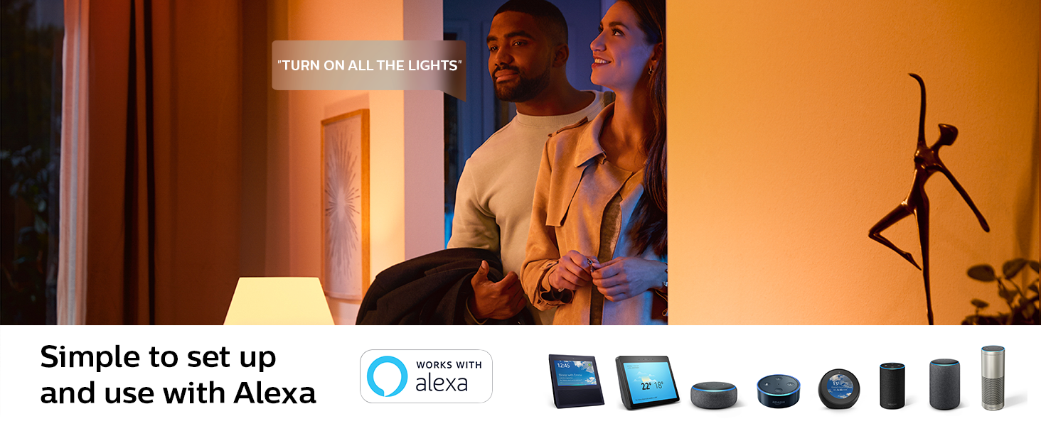 Philips Hue Works with Alexa