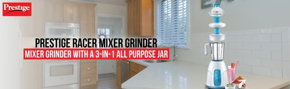 PRESTIGE RACER MIXER GRINDER 3 IN 1 PURPOSE JAR