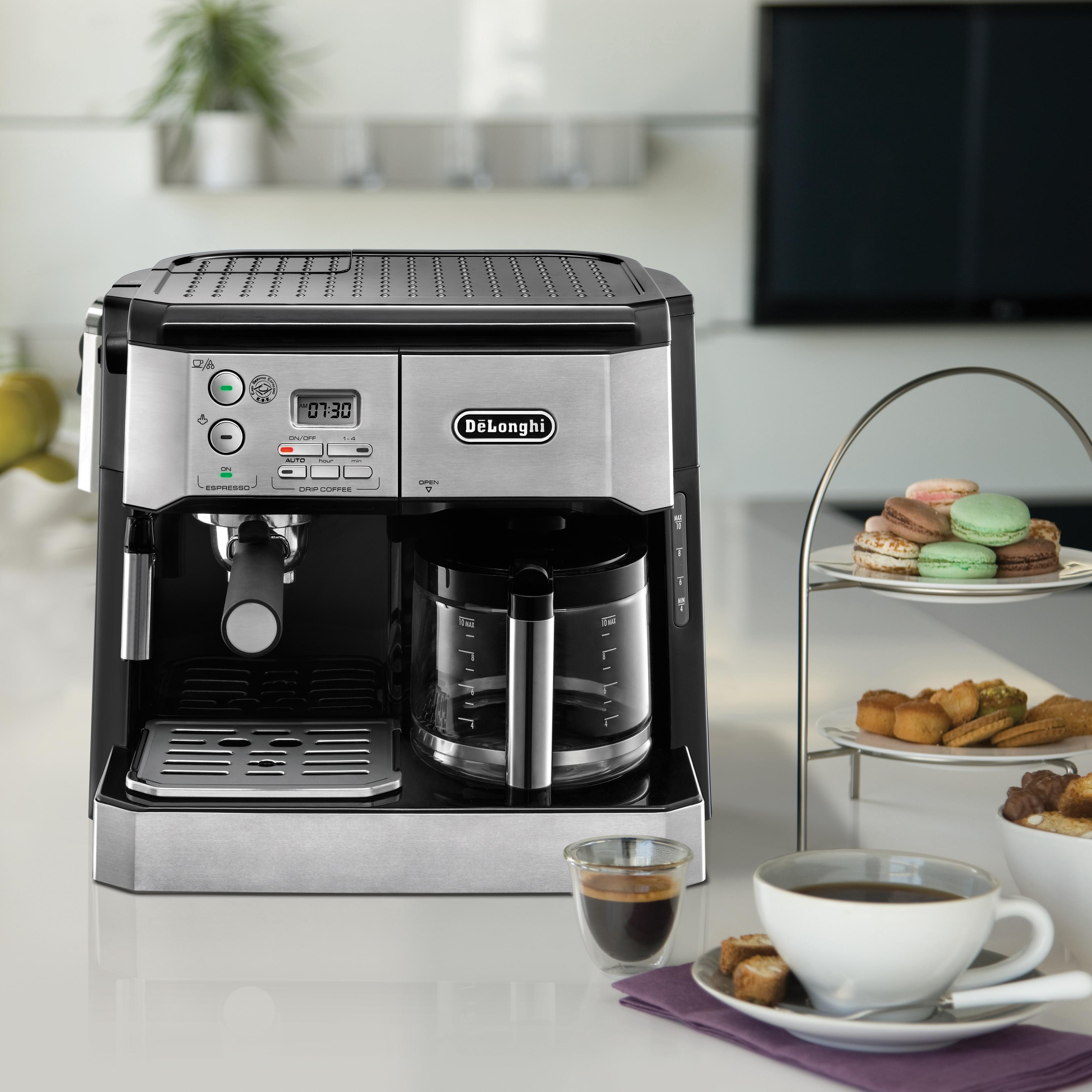 Espresso Drip Coffee Maker Combo : Amazon.com: DeLonghi BCO430 Combination Pump Espresso and 10-cup Drip Coffee Machine with ...