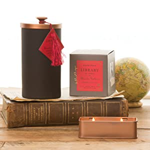 library collection, candles, scent, decorative, paddy wax