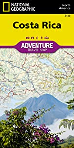 Costa Rica National Geographic Adventure Map National Geographic Maps 0749717000384 Amazon Com Books