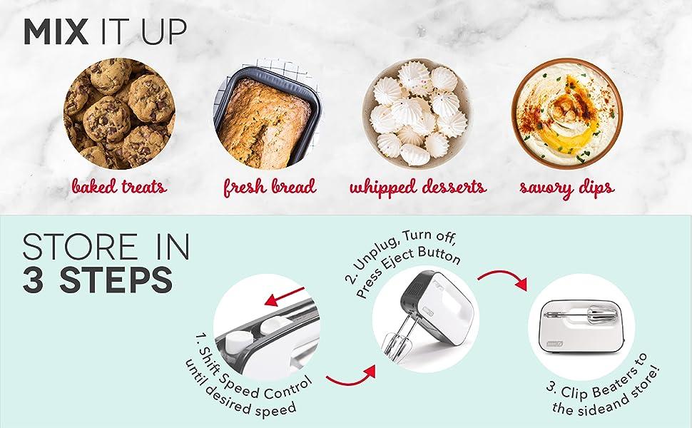 mixer, baking, dessert, compact