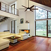 Rooms with angled ceilings