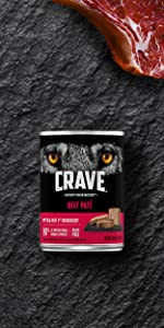 Crave Adult Wet Dog Food Beef, 1st Ingredient Real Beef, Soft Wet Dog Food, Moist, Delicious
