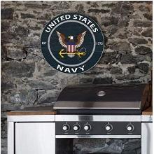 "Navy 20""x20"" inOutdoor Circle Wall Sign"