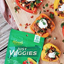 karen's naturals organic gmo-free dehydrated and freeze-dried fruits and vegetables