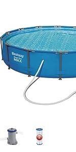Bestway 56420 Piscina Steel Pro MAX con depuradora, M: Amazon.es ...