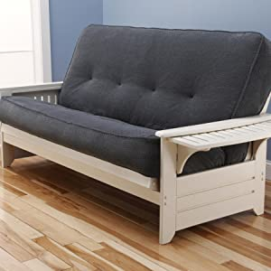 the monterey futon frame u0027s clean and simple look creates a well define room  it offers versatility that accents your space  amazon    monterey futon frame in natural finish  kitchen  u0026 dining  rh   amazon