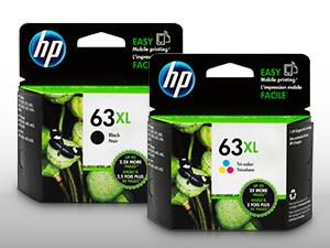 HP 63 ink for DeskJet OfficeJet used in Photosmart premium high yield