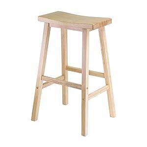 Satori 29  Saddle Seat Bar Stool Beech  sc 1 st  Amazon.com & Amazon.com: Winsome Wood 29