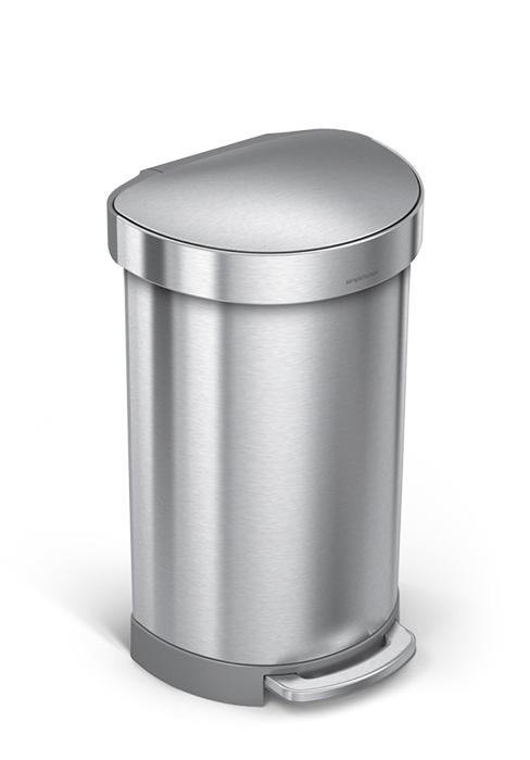 semi round shape trash can