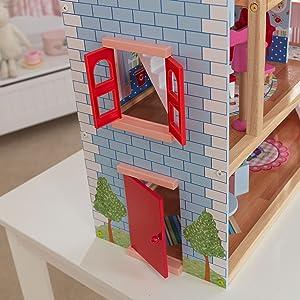 KidKraft 65054 Chelsea Doll Cottage Puppenhaus aus Holz