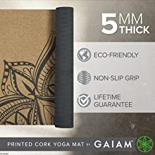 5mm Thick Cork Yoga Mat