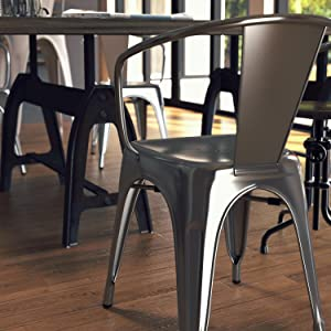 Amazon.com - Poly and Bark Trattoria Arm Chair in Polished