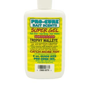 Pro-Cure Trophy Walleye in an 8 Ounce squeeze bottle with applicator cap