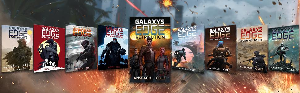 galaxy's edge, jason anspach, nick cole, military science fiction, space opera, adventure books