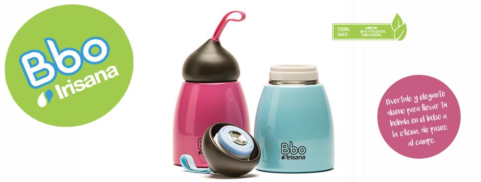 Botella termo reutilizable de acero inoxidable de doble capa, BBO9 Irisana, con divertido y elegante diseño, ideal para todas las edades, niños, ...