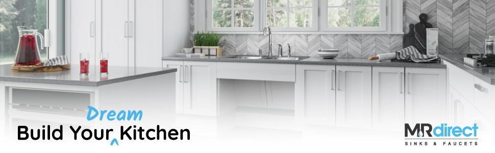 18-Gauge 3218C-ENS Kitchen Ensemble Bundle 3 Items Sink with Standard Strainer and Sink Grid Brushed Satin MR Direct