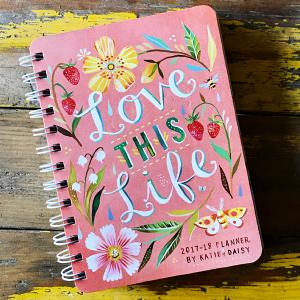 love 2016 2017 on the go weekly planner 17 month calendar with pocket