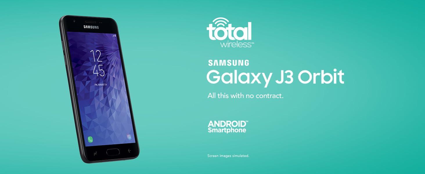 Amazon com: Total Wireless Samsung Galaxy J3 Orbit 4G LTE
